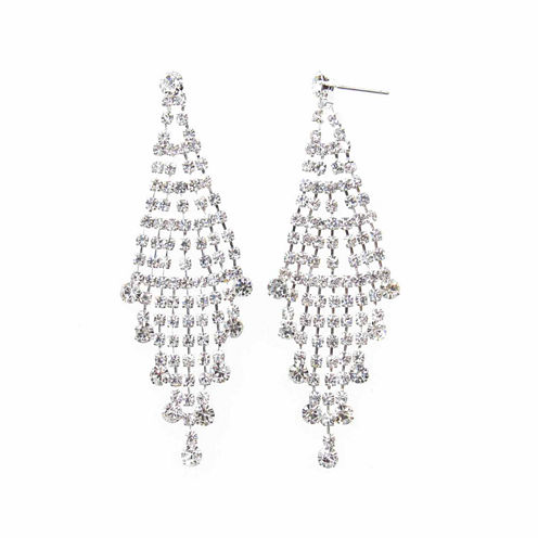 Vieste Rosa White Brass Chandelier Earrings