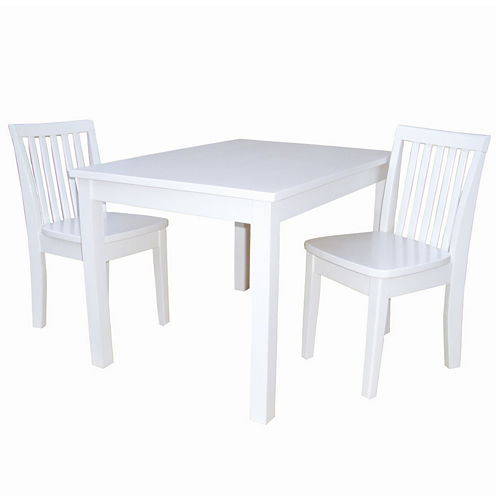 3-Pc. Juvenile Table Set 3-pc. Kids Table + Chairs-Painted