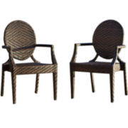 Adriana Pair of Outdoor Wicker Chairs