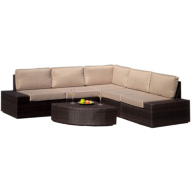 jcpenney.com | Santa Cruz 6-pc. Outdoor Wicker Sectional