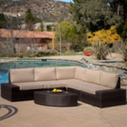 Santa Cruz 6-pc. Outdoor Wicker Sectional