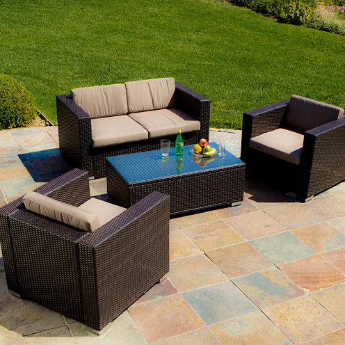 Murano 4-pc. Outdoor Wicker Sofa Set