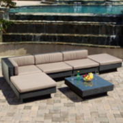 Santorini 6-pc. Outdoor Wicker Sectional