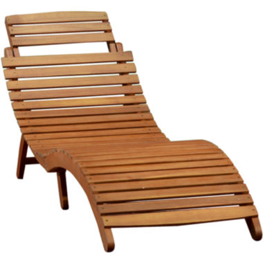 jcpenney.com | Lahaina Outdoor Wood Chaise Lounge