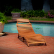 Lahaina Outdoor Wood Chaise Lounge