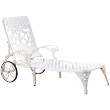 jcpenney.com | Biscayne Outdoor Chaise Lounge Chair – White Finish
