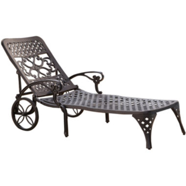 jcpenney.com | Biscayne Outdoor Chaise Lounge Chair - Black Finish
