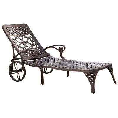 jcpenneycom biscayne outdoor chaise lounge chair bronze finish - Chaise Outdoor Lounge Chairs