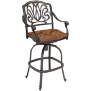 Floral Blossom Cushioned Swivel Stool