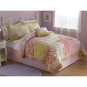 Julia Floral Twill Quilt Set