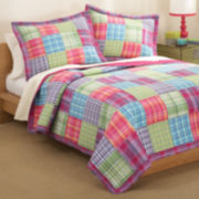 Kelsey Plaid Twill Quilt Set