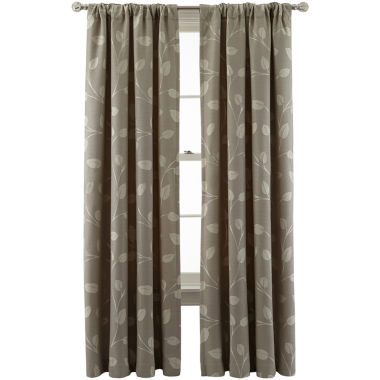 jcpenney.com | MarthaWindow™ Hampton Leaf Rod-Pocket/Back-Tab Curtain Panel