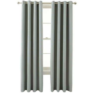 jcpenney.com | MarthaWindow™ Hampton Basketweave Grommet-Top Curtain Panel