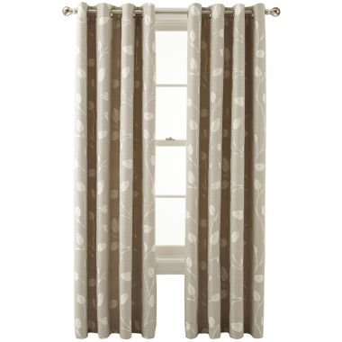 jcpenney.com | MarthaWindow™ Hampton Leaf Grommet-Top Curtain Panel