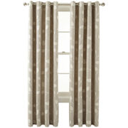 MarthaWindow™ Hampton Leaf Grommet-Top Curtain Panel