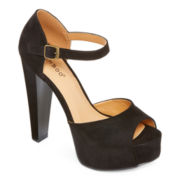 Bamboo Intuition Platform Peep-Toe Pumps
