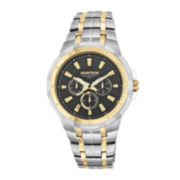 Armitron® Men's 5144 Black Dial Two-Tone Stainless Steel Watch