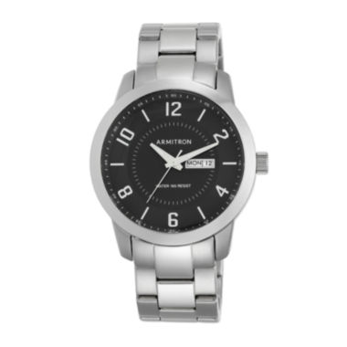jcpenney.com | Armitron® Men's 5142 Black Dial Stainless Steel Watch