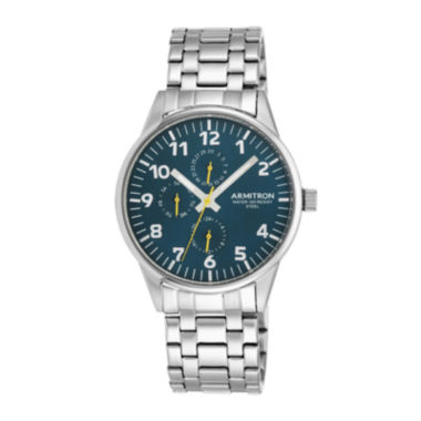 jcpenney.com | Armitron® Mens 5145 Blue Dial Stainless Steel Watch