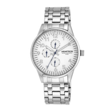 jcpenney.com | Armitron® Mens 5145 White Dial Stainless Steel Watch