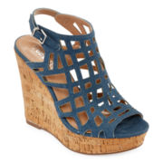 Style Charles Antwerp Cork Wedge Sandals