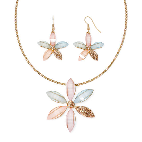 Mixit™ 6 Petals Flower Necklace and Earrings Set