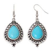 Aris by Treska Blue Silver-Tone Drop Earrings