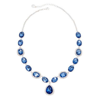 jcpenney.com | Monet® Blue and Silver-Tone Y Necklace