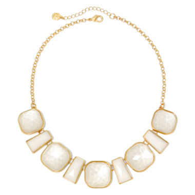 jcpenney.com | Monet® White Stone Gold-Tone Collar Necklace