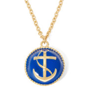 Liz Claiborne® Gold-Tone Ball Anchor Pendant Necklace