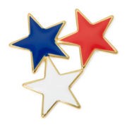 Liz Claiborne® Multicolor Gold-Tone Star Pin