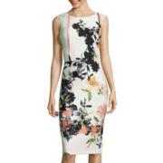 J. Taylor Sleeveless Floral Sheath Dress