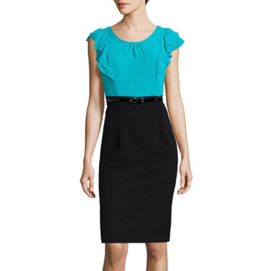 jcpenney.com | Alyx® Flutter-Sleeve Belted Dress