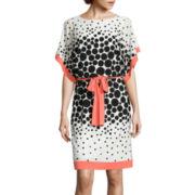 Studio 1® Kimono-Sleeve Dot Blouson Dress