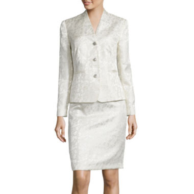 jcpenney.com | Isabella Long-Sleeve 3-Button Floral Jacquard Jacket and Skirt Suit Set