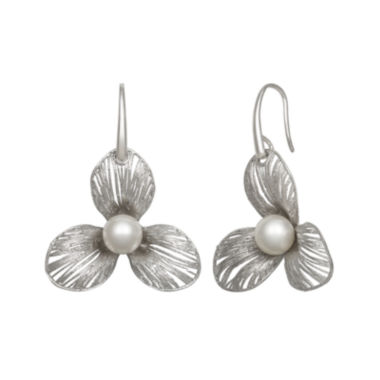 jcpenney.com | Cultured Freshwater Pearl Sterling Silver Flower Earring