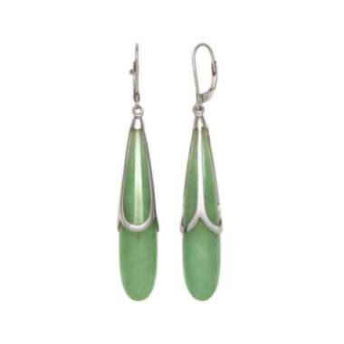 jcpenney.com | Genuine Jade Sterling Silver Drop Earrings