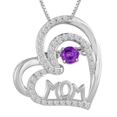 jcpenney.com | Love in Motion™ Genuine Amethyst & Lab-Created Sapphire Sterling Silver Pendant