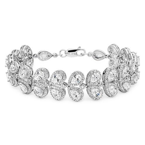 DiamonArt® Cubic Zirconia Sterling Silver Bracelet