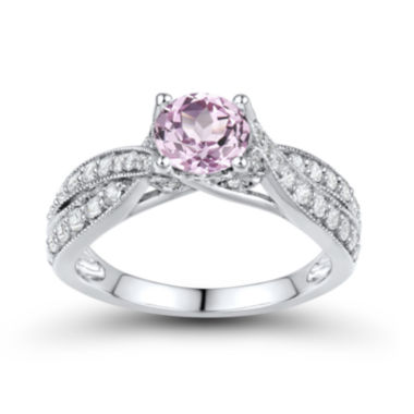 jcpenney.com | DiamonArt® Pink & White Cubic Zirconia Sterling Silver Bridal Ring