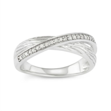 jcpenney.com | 1/10 CT. T.W. Diamond Criss-Cross Sterling Silver Ring
