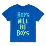 Okie Dokie® Short-Sleeve Attitude Tee - Baby Boys newborn-24m