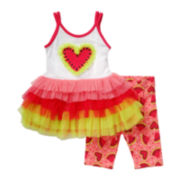 Youngland® Watermelon Tutu Dress and Shorts Set - Toddler Girls 2t-4t