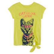 Arizona Graphic Side-Tie Tee - Toddler Girls 2t-5t