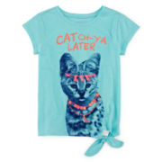 Arizona Tie-Front Graphic Tee - Preschool Girls 4-6x