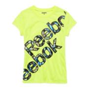 Reebok® Bliss Short-Sleeve Logo Tee - Preschool Girls 4-6x