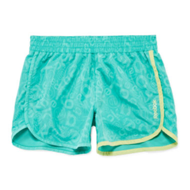 jcpenney.com | Reebok® Toss Printed Logo Shorts - Preschool Girls 4-6x