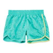 Reebok® Toss Printed Logo Shorts - Preschool Girls 4-6x
