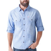 Seven7® Long-Sleeve Chambray Woven Shirt