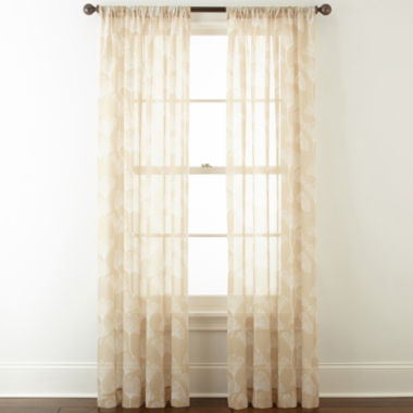 jcpenney.com | Home Expressions™ Orlando Rod-Pocket Sheer Curtain Panel